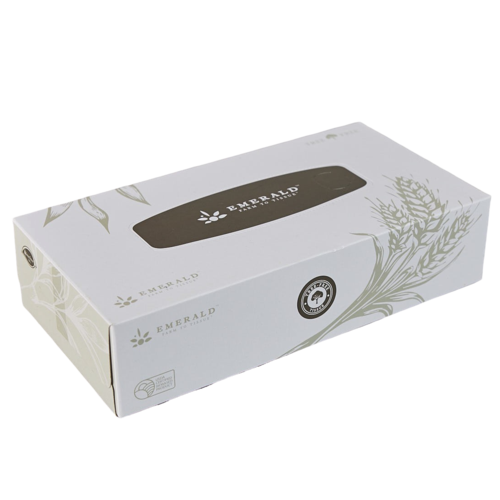 Emerald Compostable Facial Tissues