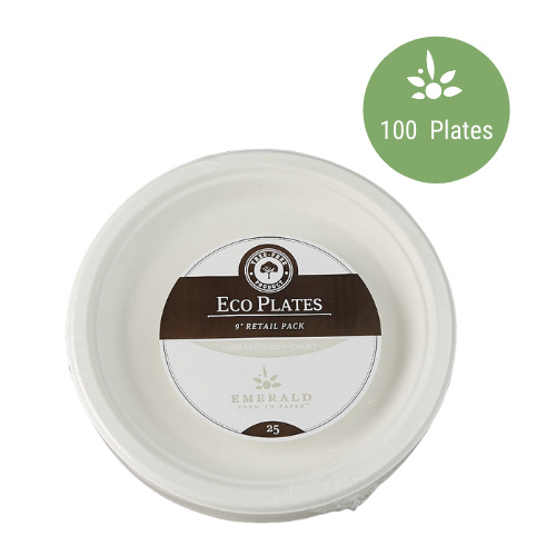 "Emerald Compostable 9"" Plates"