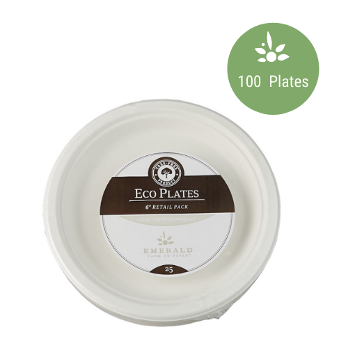 "Emerald Compostable 6"" Plates"