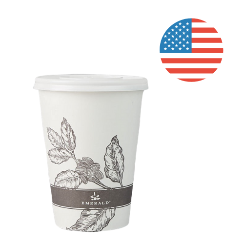 Emerald Compostable 12 oz. Hot Cups